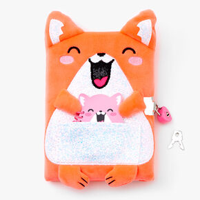 Orange Hamster Lock Diary Notebook Set - 2 Pack,