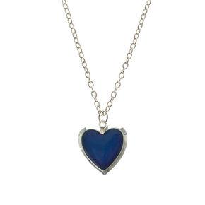 Heart-Shaped Mood Locket Necklace,