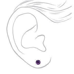 Clous d'oreilles variés ronds 5mm arc-en-ciel - Lot de 9,