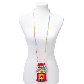 Gumball Machine Silicone Phone Case with Gold Chain - Fits iPhone 5,
