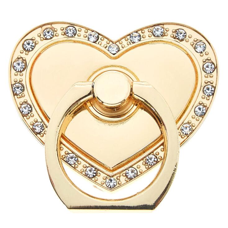 Claire's Support avec anneau cœur couleur doré