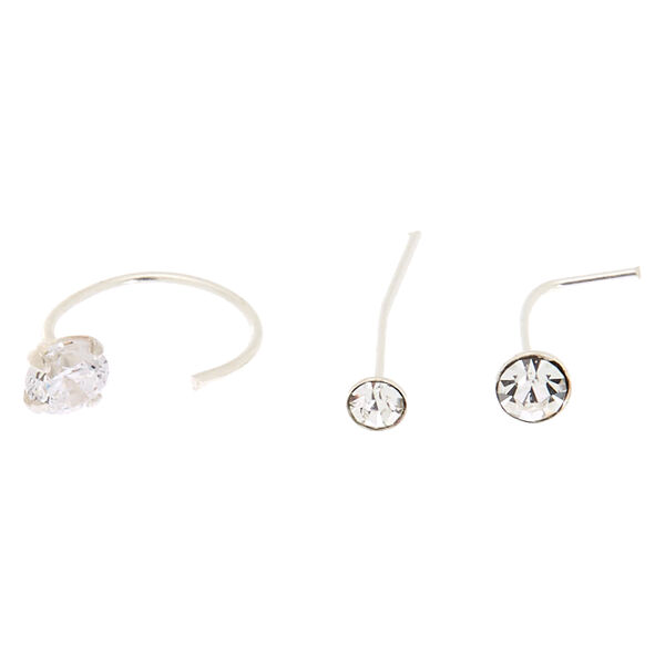 Claire's - sterling 22g nose studs & ring - 2