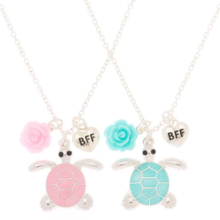 Best Friends Pastel Turtle Pendant Necklaces - 2 Pack,
