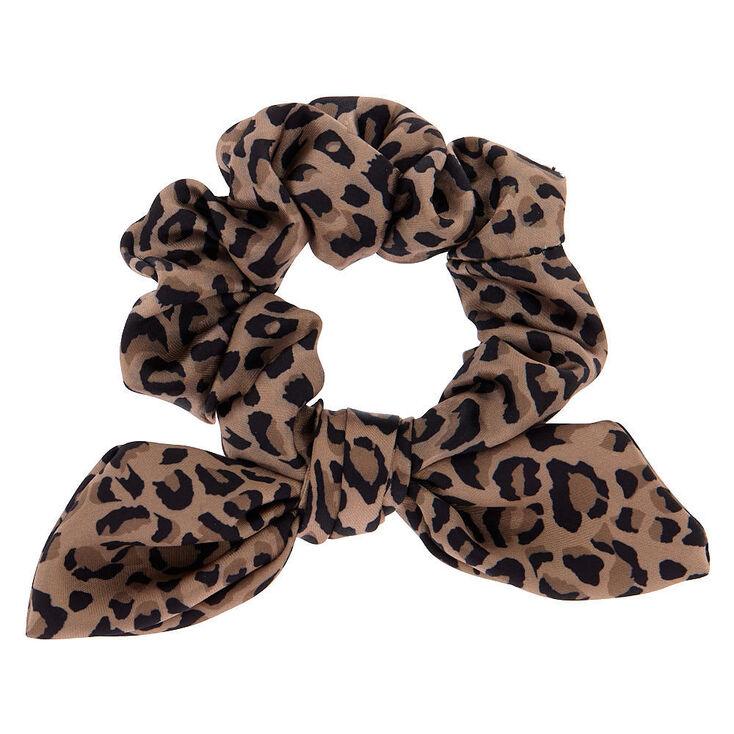 Petit chouchou léopard à nœud noué - Marron,
