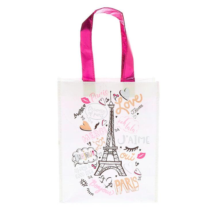 Paris Reusable Tote Bag Pink