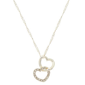 Linked Heart Pendant Necklace,
