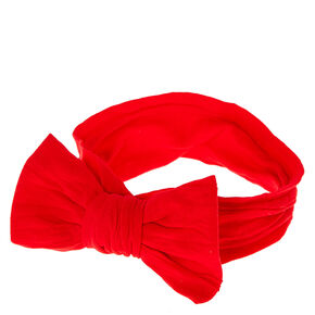 Claire's Club Bow Headwrap - Red,