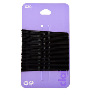 Large Bobby Pins - Black, 30 Pack,