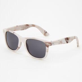 Marble Retro Sunglasses - White,