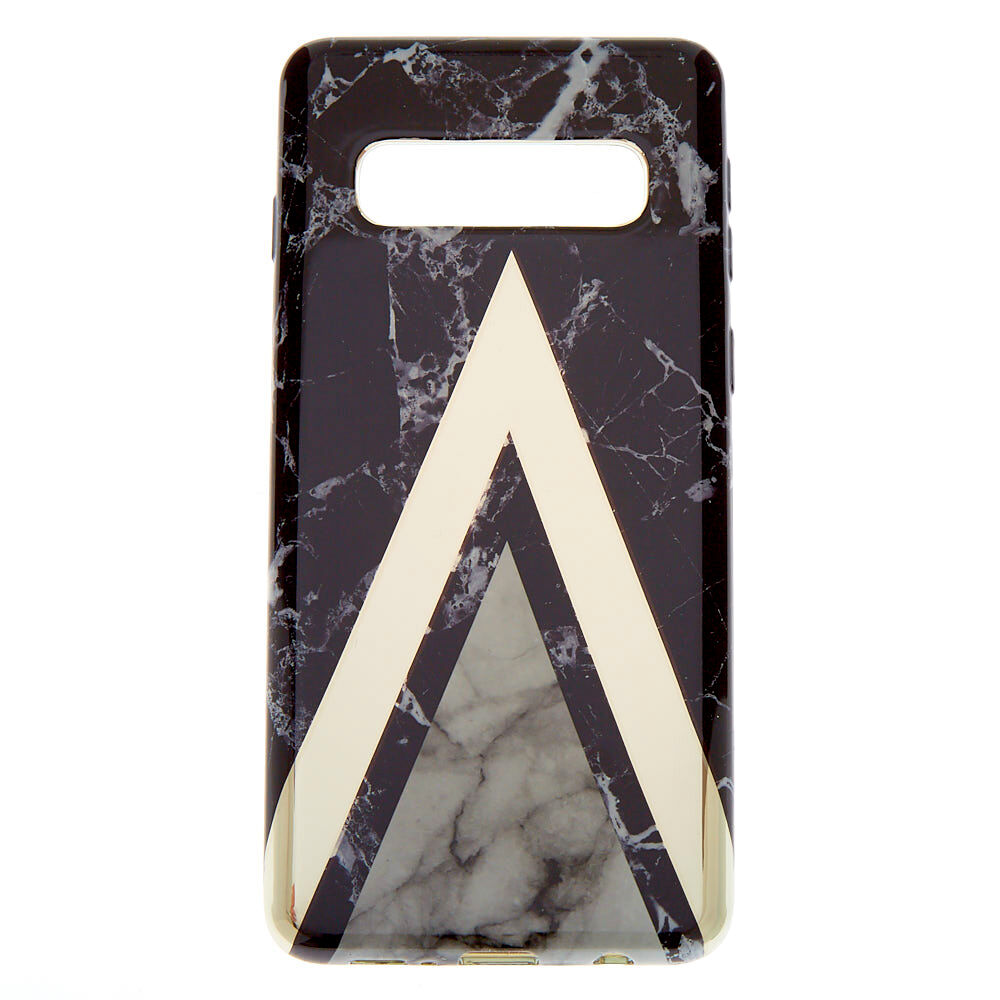 Black Geometric Marble Phone Case - Fits Samsung Galaxy S10