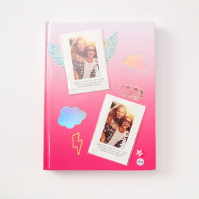 Ombre Photo Frame Light Up Journal - Pink,