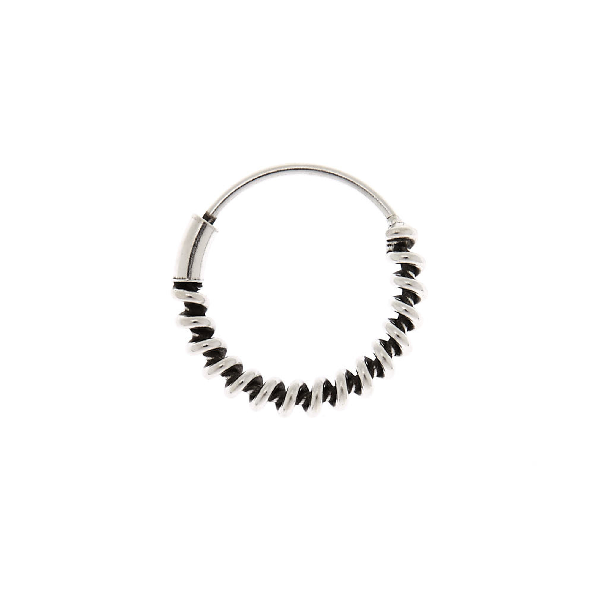 Silver Twisted Cartilage Hoop Earring   Claire's US