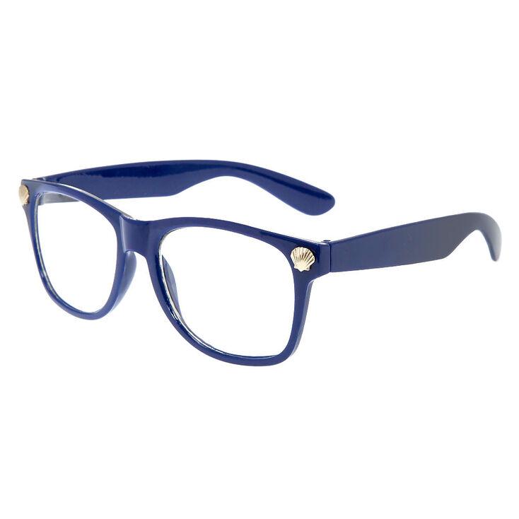 Navy Blue Retro Frames | Claire\'s US