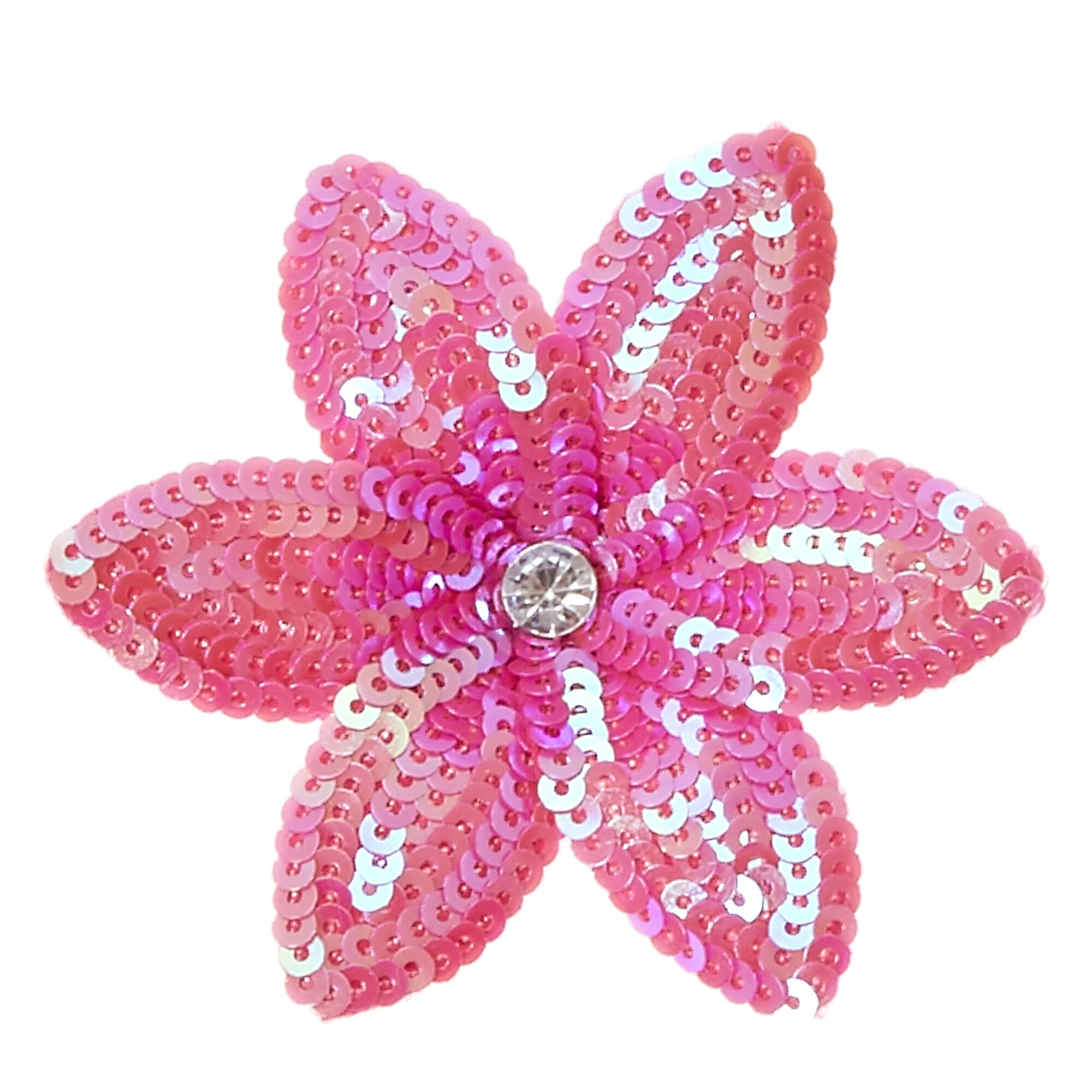 Pink Sequin Lily Flower Hair Clip Claires Us