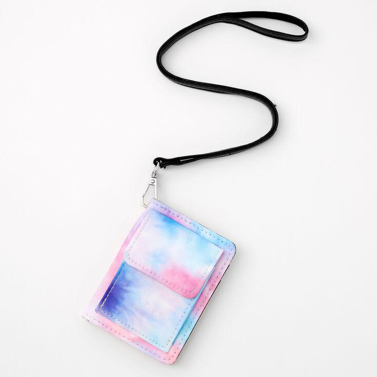 Pastel Tie Dye Wallet with Lanyard,