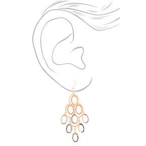 """2.5"""" Pastel Shine Chandelier Drop Earrings,"""
