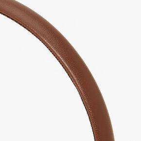 PU Thin Headband - Brown,