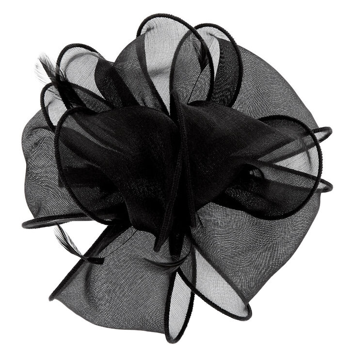 Chiffon Hair Fascinator - Black,