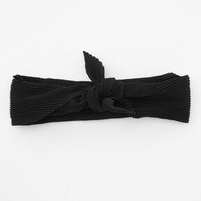 Pleated Bandana Headwrap - Black,