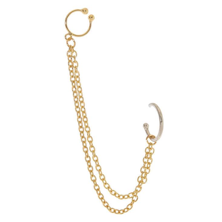 Double Hoop Chain Earring