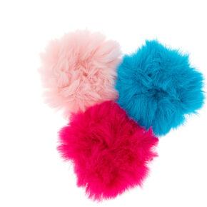 Claire s Club Fur Hair Scrunchies - Pink 0cd42b85b17