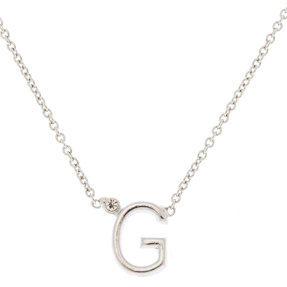 D Claire/'s Girl/'s Silver Initial Necklace