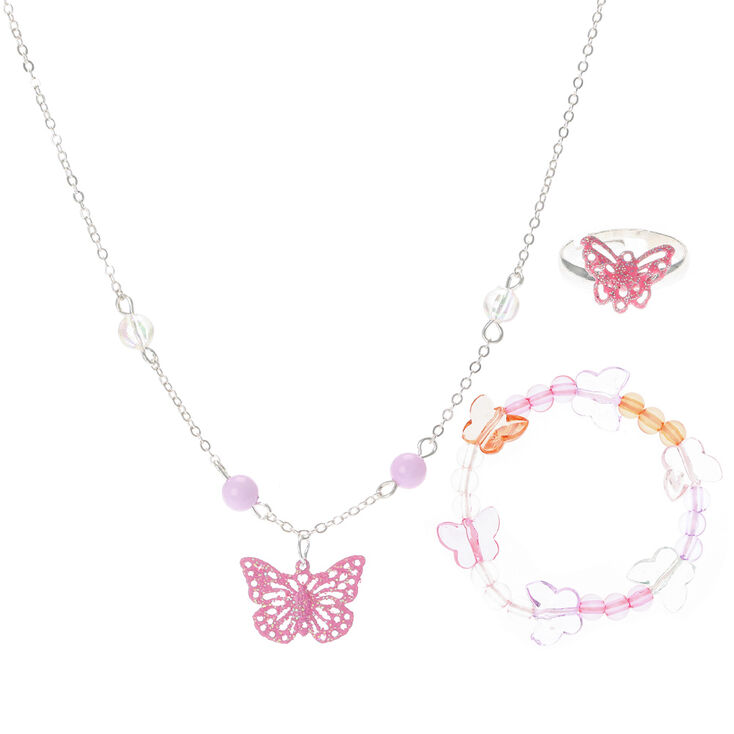 Kids Pink Butterfly Necklace