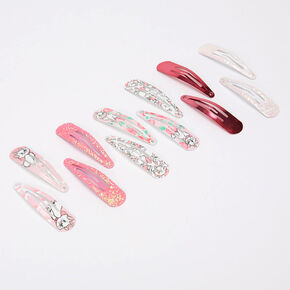 ©Disney Animals Marie Glitter Snap Clips Wheel – Pink, 12 Pack,