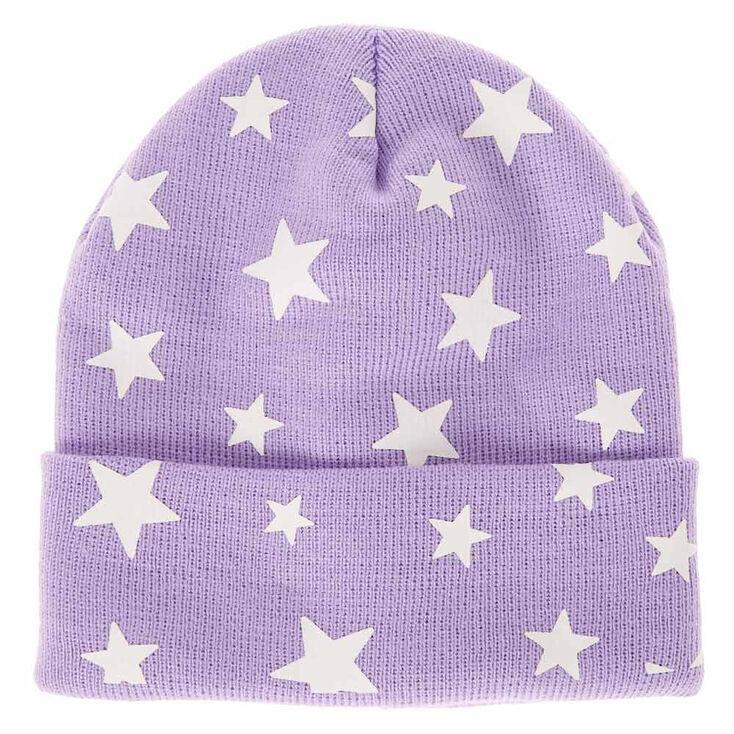 White Star Purple Beanie Hat  a86759cb5a0