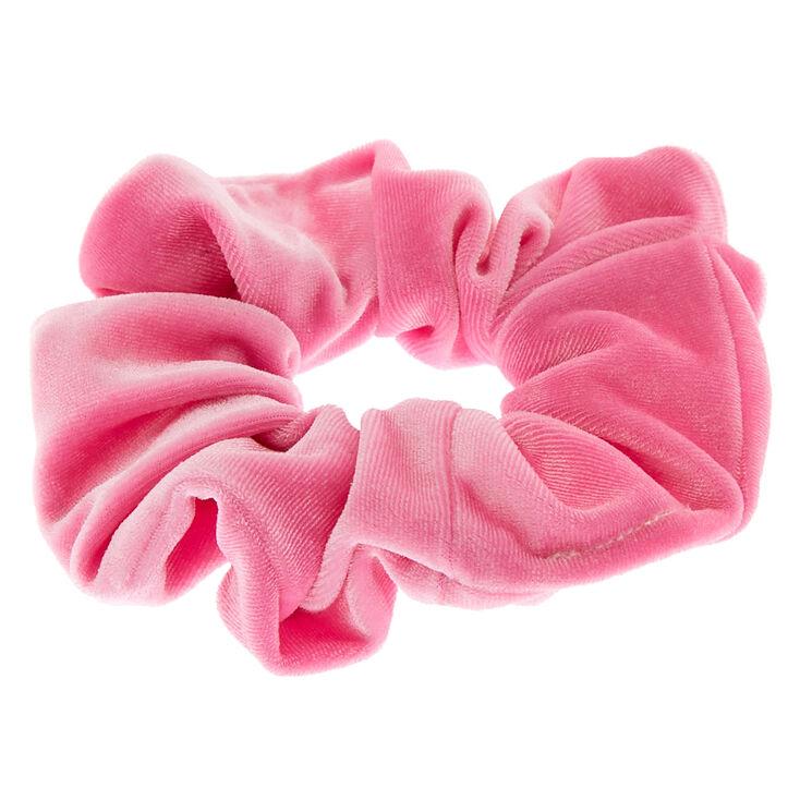 Medium Velvet Hair Scrunchie - Pink,