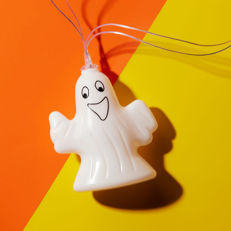 Halloween Sheet Ghost String Lights - White,
