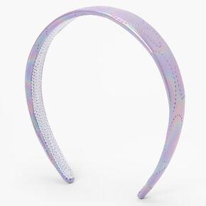 Iridescent Heart Wide Headband - Purple,