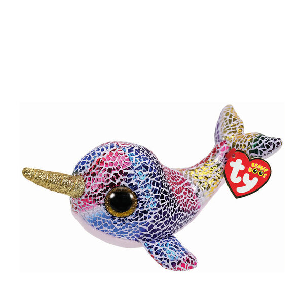Claire's - ty beanie boo small nova the narwhal soft toy - 1