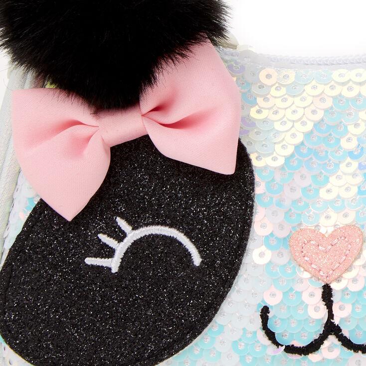 Glitter Panda Hobo Bag - White,