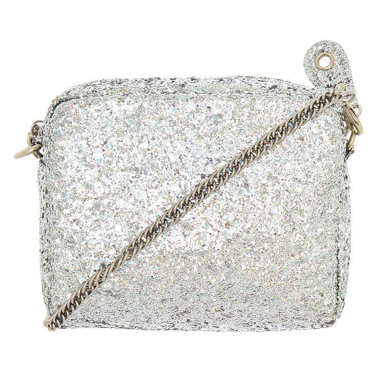 7fbe3f5da3 Mini Holographic Glitter Crossbody Bag - Silver