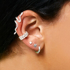 Ear Stacking Silver Set,