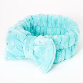 Makeup Bow Headwrap - Blue,