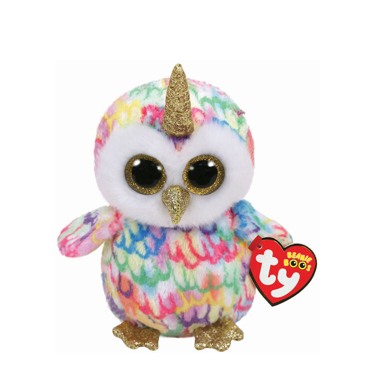 Ty Beanie Boo Small Enchanted The Unicorn Owl Plush Toy Claire S Us