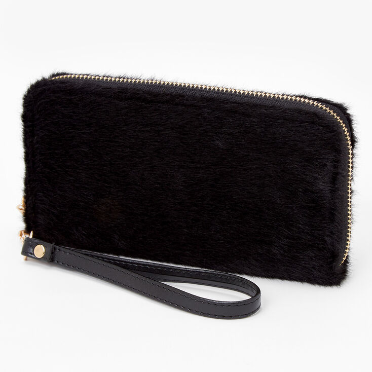 Furry Wristlet - Black,