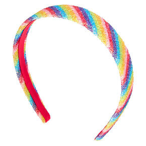 Rainbow Glitter Striped Headband,