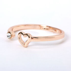 Rose Gold Open Heart Ring,
