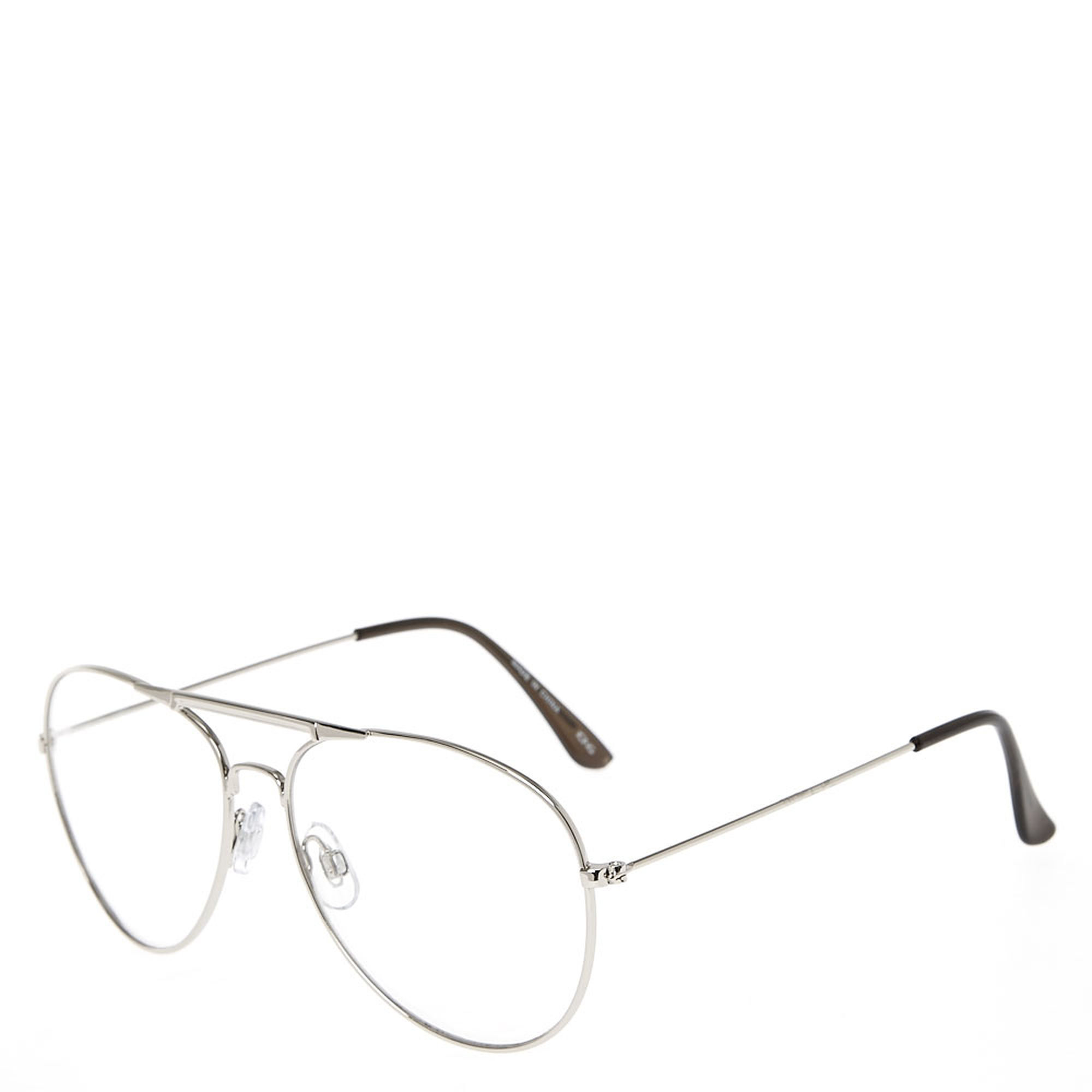 Silver Metal Aviator Frames | Claire\'s