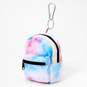 Pastel Tie Dye Mini Backpack Keychain,