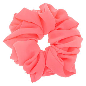 Giant Hair Scrunchie - Neon Pink,