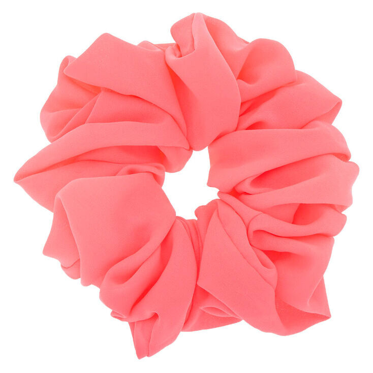 Giant Hair Scrunchie - Neon Pink,