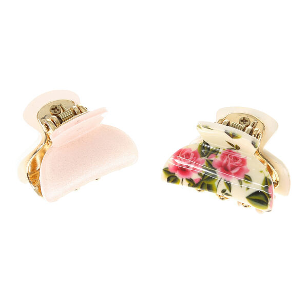 Claire's - rose garden hair claws - 1