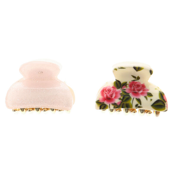 Claire's - rose garden hair claws - 2