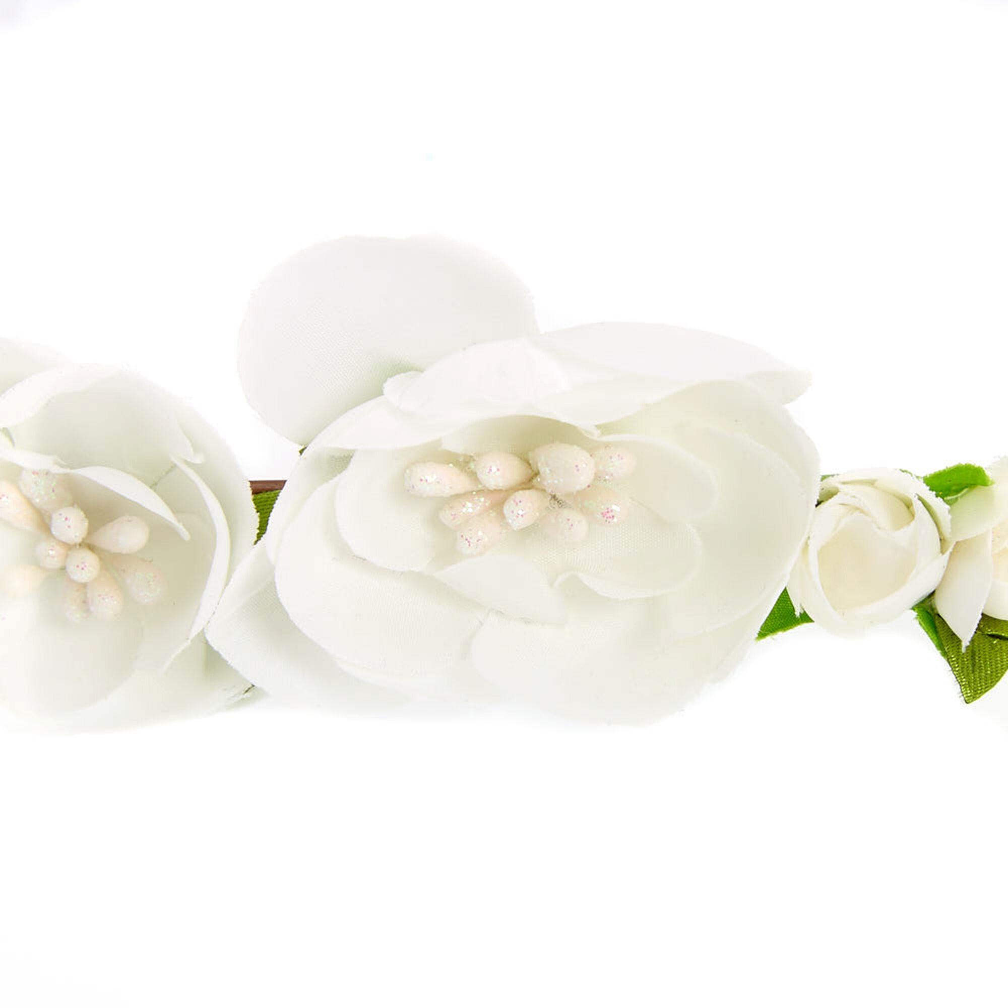 Claires club flower girl flower garland veil white claires us claire39s club flower girl flower garland veil white mightylinksfo