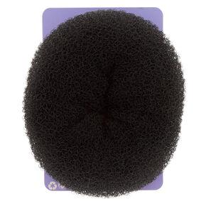 Oversized Hair Donut - Black,