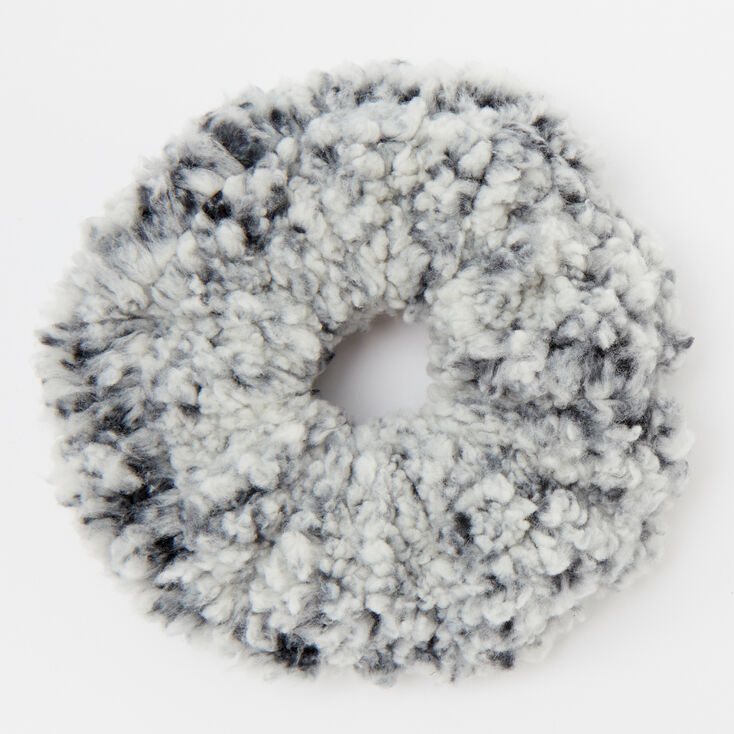 Medium Teddy Hair Scrunchie - Black,
